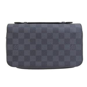 Genuine Louis Vuitton Damier Grafitt Zippy XL N41503 Leather