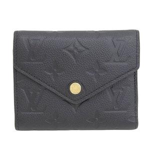 Genuine Louis Vuitton Monograms Anplant Victorine's Compact Purse Noir Leather
