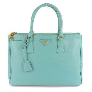 Genuine PRADA Prada Safiano 2WAY tote bag light blue BN2274 leather
