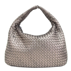 Genuine BOTTEGA VENETA Bottega Veneta Intrecciato One Shoulder Bag Bronze Leather