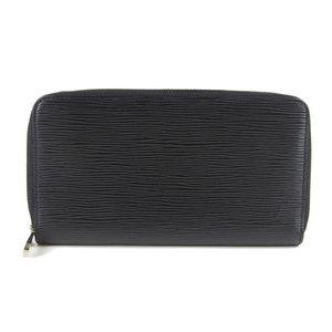 Genuine Louis Vuitton Epi Zippy Wallet Long wallet Noir M63852 Leather