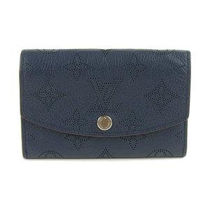 Genuine Louis Vuitton Mahina Portonet Anae Navy Coin Purse M62072 Leather