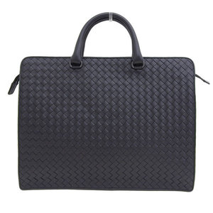 Genuine BOTTEGA VENETA Bottega Veneta Intorechato 2WAY business bag black leather