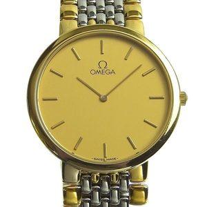Genuine OMEGA Omega Deville Men's Quartz Watch Combi