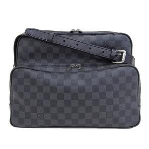 Genuine Louis Vuitton Damier Graphite I Shoulder Bag Leather