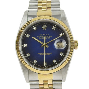B rakushi Main Store ☆ Genuine Rolex Datejust Men's Automatic Watch 16233G L number Burugra