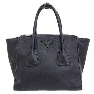 Genuine PRADA Prada leather 2WAY handbag shoulder black B2625M