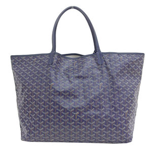 Goyard Genuine GO YARD Gojar Saint Louis GM Tote Bag Navy 紺 Leather