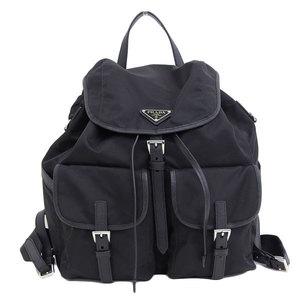 Genuine PRADA Prada rucksack black Nero 1BZ 822 leather