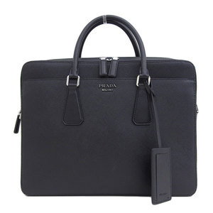 Genuine PRADA Prada Safiano Leather Business Bag Briefcase Black