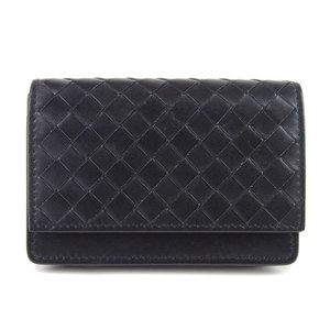 Genuine BOTTEGA VENETA Bottega Veneta Intrecciato Card Case Black