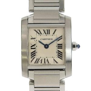 B Rakuichi Main Store ☆ Genuine Cartier Tank Francaise Ladies Quartz Wrist Watch SM W51008Q3