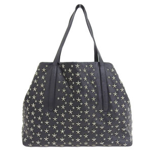 Genuine JIMMY CHOO Jimmy Choo Star Studs Tote Bag Black Leather
