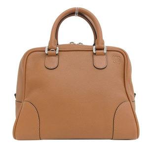 Genuine LOEWE Loewe Amazona 75 2WAY Handbag Shoulder Brown Leather