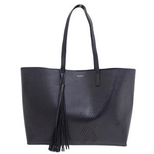 Genuine SAINT LAURENT Saint Laurent tote bag black 509233 0JB1E1000 leather