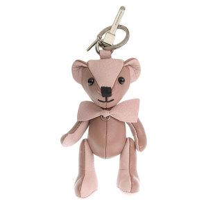 Genuine BURBERRY Burberry Leather Bear Teddy Charm Key Holder