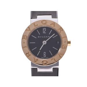 ブルガリ ブルガリブルガリ23 黒文字盤 BB23SG レディース YG/SS クオーツ 腕時計 Aランク BVLGARI 中古 銀蔵