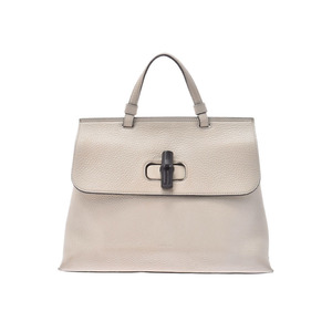 Gucci Bamboo Daily White Women's Calf 2WAY Bag