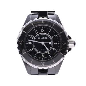 シャネル J12 33mm 黒文字盤 H0682 メンズ レディース 黒セラミック クオーツ 腕時計 CHANEL Aランク 中古 銀蔵