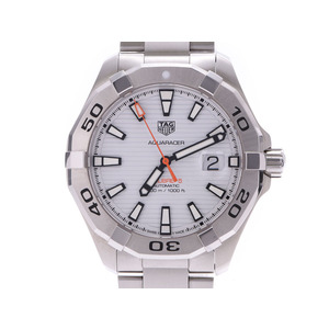 Tag Heuer Aqua Racer White Dial WAY 2013 Men's SS Automatic Rolled Watch A Rank Beauty Product TAG Box Gallery Used Ginzo
