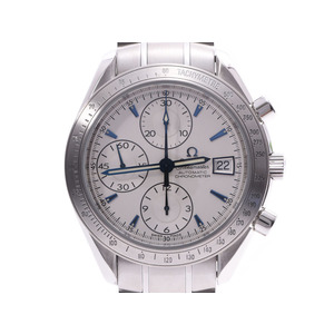 オメガ スピードマスター デイト 日本限定 シルバー文字盤 3211.32 メンズ SS 自動巻 腕時計 Aランク 美品 OMEGA 箱 ギャラ 中古 銀蔵