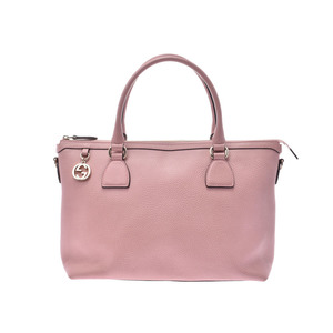 Gucci 2WAY tote bag pink ladies calf outlet