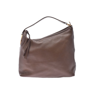 Gucci shoulder bag Brown Ladies calf