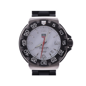 Tag Heuer Formula 1 Outlet White Dial WAC 1111-0 Men's SS / Rubber Quartz Watch A Rank TAG Box Gala Used Ginzo