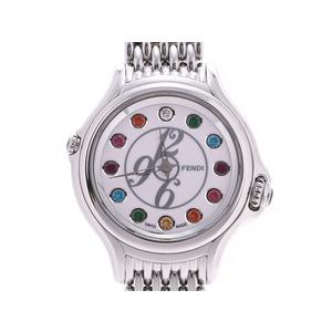 フェンディ クレイジーカラット 白文字盤 001-428 レディース SS クォーツ 腕時計 Aランク FENDI 箱 ギャラ 中古 銀蔵