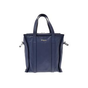 Balenciaga Bazar Shopper S Navy Ladies Leather 2WAY Handbag