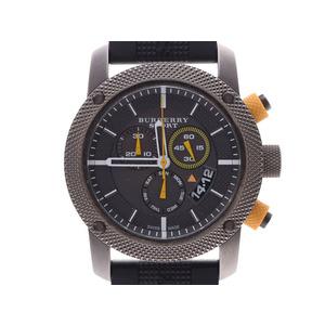 バーバリー スポーツコレクション クロノグラフ グレー文字盤 UB7713 メンズ SS/ラバー クオーツ 腕時計 Aランク 美品 BURBERRY 中古 銀蔵