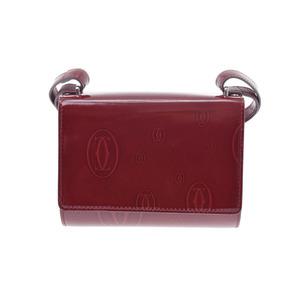 カルティエ(Cartier) カルティエ ハッピーバースデイ ショルダーバッグ ボルドー レディース レザー 未使用 美品 CARTIER 箱 ギャラ 中古 銀蔵