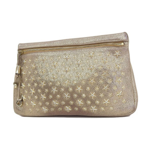 JIMMY CHOO Jimmy Choo Philippa Star Studs Clutch Bag Metallic Leather Gold Multi Case 20190705