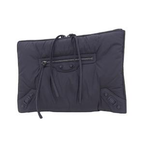 BALENCIAGA Balenciaga Classic Pouch Clutch Bag Nylon Black 20190705