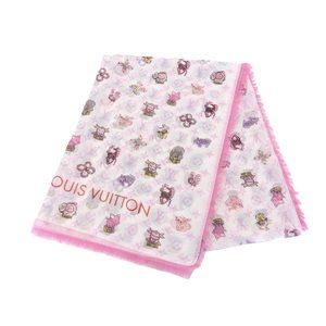 LOUIS VUITTON Louis Vuitton Etoll Superstition Zodiac Pattern Stole Shawl Cotton Silk Bron M71809 20190712