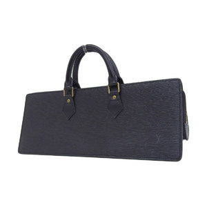 LOUIS VUITTON Louis Vuitton Suck Triangle Epi Handbag Noir Black M52092 20190705