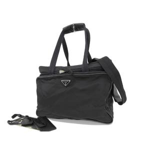PRADA Prada 2Way Handbag Shoulder Nylon Black Boston 20190712