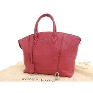 LOUIS VUITTON Louis Vuitton Lock It PM Parnacea Handbag Leather Ruby Red M50392 20190712