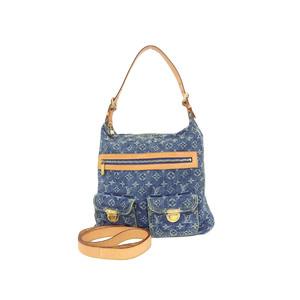 LOUIS VUITTON Louis Vuitton buggy GM monogram denim one shoulder bag blue indigo M95048 20190705