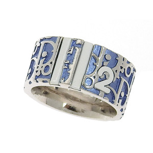 Christian Dior Trotter Ring Blue Silver White No. 14 20190628