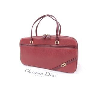 Christian Dior logo hardware vintage handbag leather red 20190705