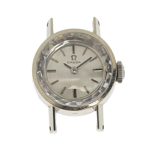 OMEGA Omega cut glass K18WG body only Ladies' hand-rolled watch