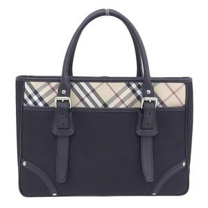 BURBERRY LONDON Burberry Handbag Business Bag Briefcase Black Beige