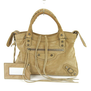 Balenciaga BALENCIAGA 2Way handbag shoulder bag beige beveled ladies * BG