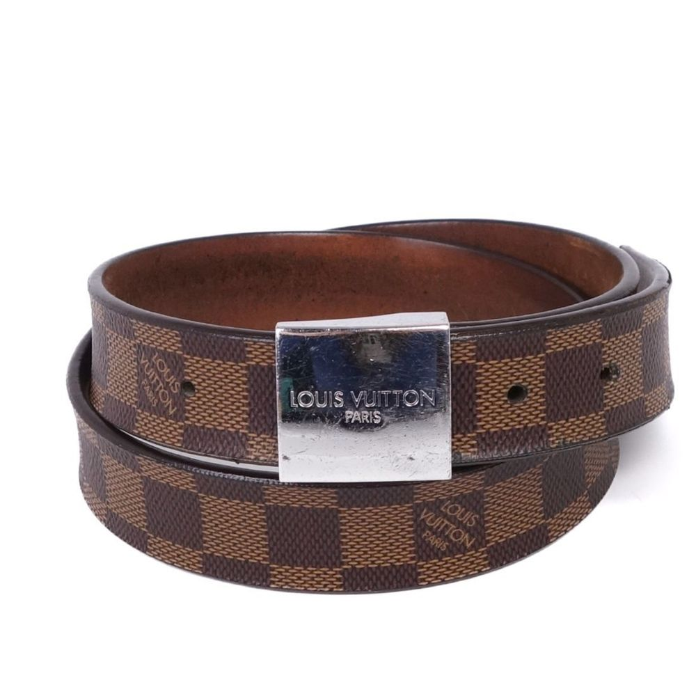 Images For Louis Vuitton Made In France >> Louis Vuitton Louis Vuitton Made In France Saint Gure Carre Damiert Belt 85 34 Brown Men S Elady Com
