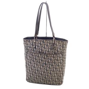 Vintage Christian Dior Made in Italy Trotter Shoulder Bag Tote Navy Men's Ladies' 鞄