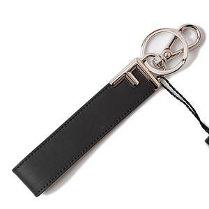 Fendi Keychain Bag Charm FENDI Key 7AR658 FOREVER Black Silver Unused