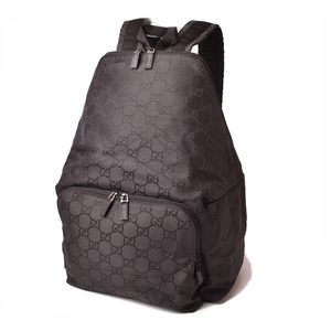 Gucci backpack rucksack GUCCI men's GG nylon black 112250