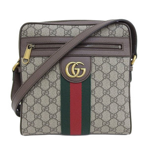 Genuine GUCCI Gucci Shelly GG Supreme Shoulder Bag Brown 547926 Leather