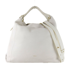 Furla FURLA bicolor Elizabeth 2way shoulder tote bag several times used white